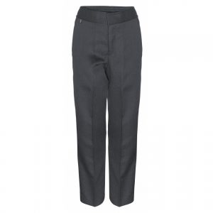 Boys Plain Fronted Slim Fit Trouser
