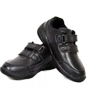 US Brass FREDDIE Infants Boys Velcro School Shoes